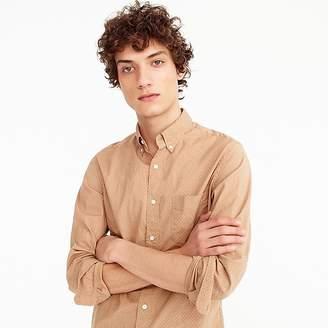 J.Crew Tall stretch Secret Wash shirt in dotted bronze