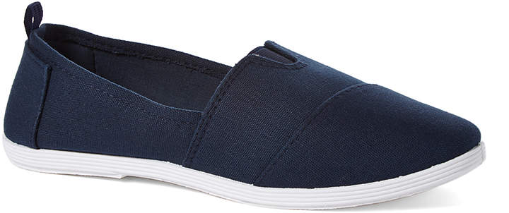 Navy Minimalist Slip-On Shoe - Women