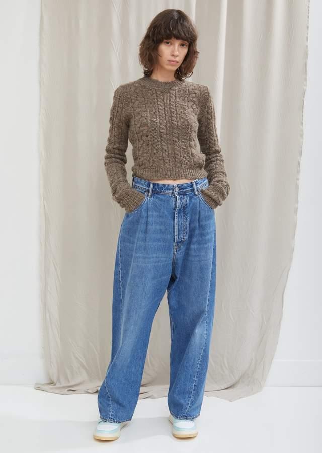 Wide Leg Mid Blue Jean