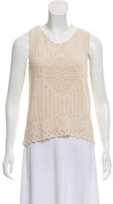 Joie Sleeveless Crochet Top