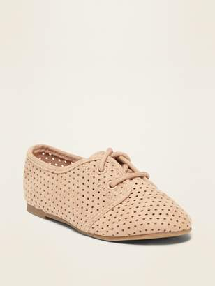 Old Navy Perforated Faux-Suede Oxford Shoes for Toddler Girls
