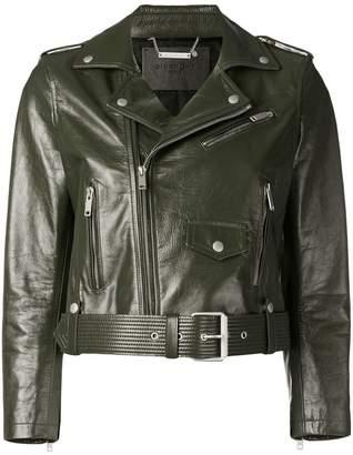 Givenchy zip detailed biker jacket