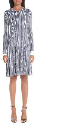 Calvin Klein Stripe Rib Knit Dress