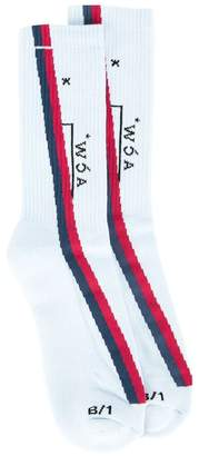 A-Cold-Wall* striped high ankle socks
