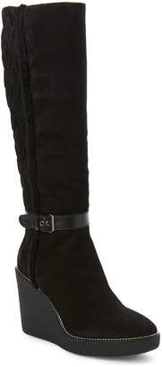 Aquatalia by Marvin K Black Viviana Suede Weatherproof Wedge Boots