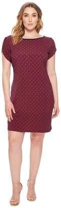 MICHAEL Michael Kors Size Tulip Sleeve Rope Geo Dress Women's Dress