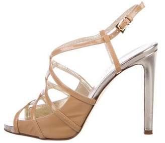 Valentino Round-Toe Patent Sandals