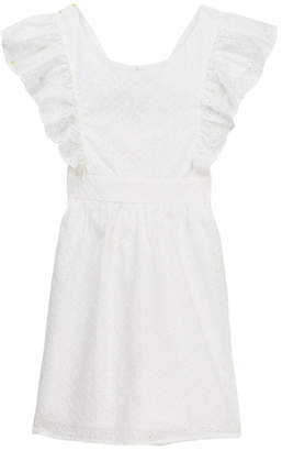 Trixxi Ruffled Sleeve Eyelet Dress (Big Girls)