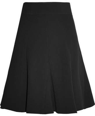 Chloé Pleated Crepe Mini Skirt - Black