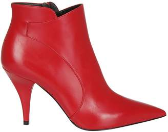 Casadei Pointed Toe Ankle Boots