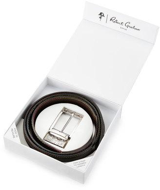 Robert Graham Vinsento Leather Multicolor-Stitch Boxed Belt Set $75 thestylecure.com