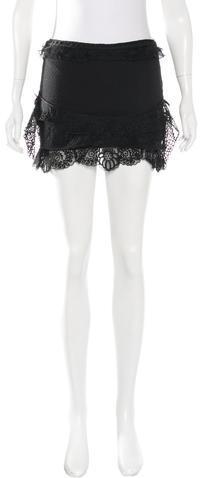 Isabel MarantIsabel Marant Crochet-Trimmed Mini Skirt