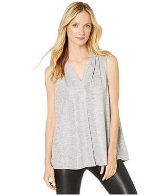 Calvin Klein Plus Plus Size Sleeveless Inverted Pleat Top