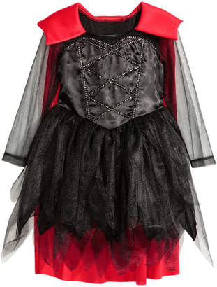 H&M Costume Dress with Cape - Black