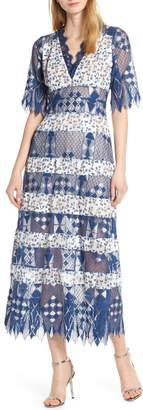 Foxiedox Muriel Mixed Media Dress