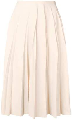 Salvatore Ferragamo pleated midi skirt