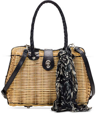 Patricia Nash Lucena Woven Satchel With Scarf