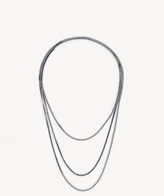 Sole Society Dainty Layered Crystal Necklace
