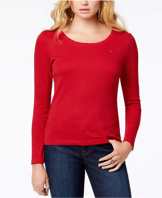 Tommy Hilfiger Cotton Printed Long-Sleeve T-Shirt