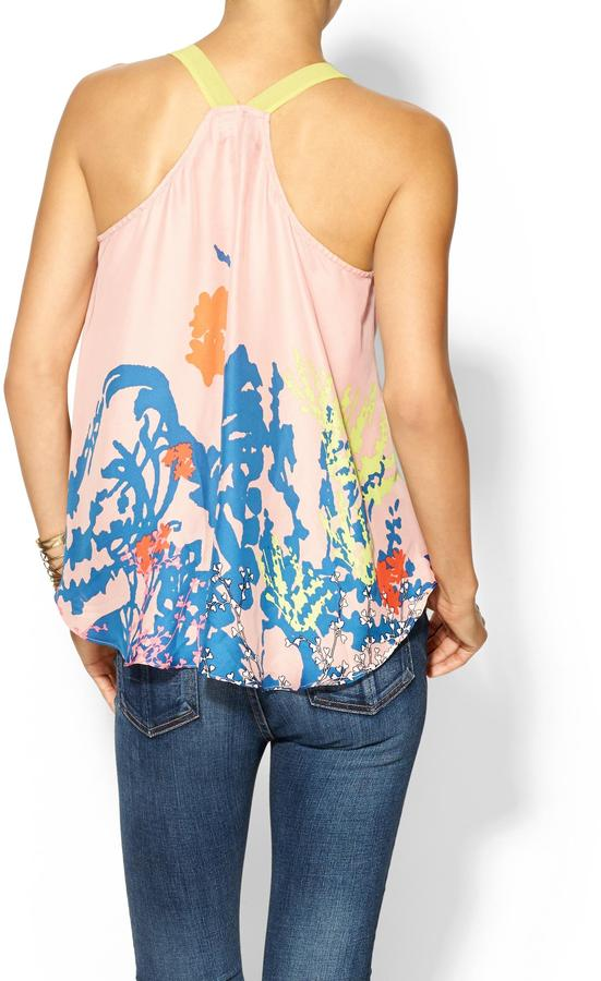 Juicy Couture Sabine Floral Woven Tank