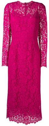 Dolce & Gabbana long sleeved lace dress