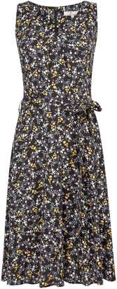 Dorothy Perkins Womens **Billie & Blossom Tall Black Ditsy Print Dress