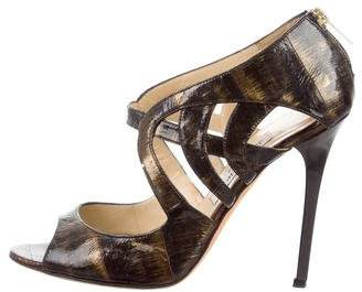 Jimmy Choo Cutout High-Heel Sandals