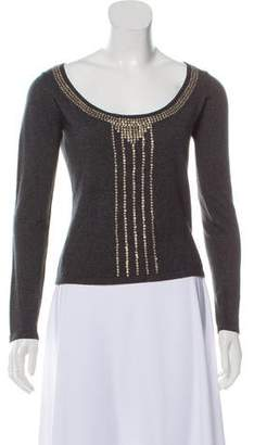 Philosophy di Alberta Ferretti Silk-Cashmere Embellished Sweater