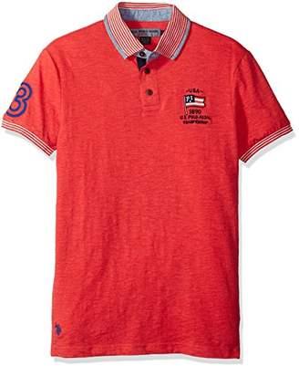 U.S. Polo Assn. Men's Short Sleeve Classic Fit Solid Slub Shirt
