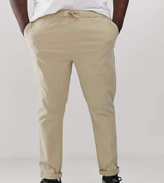 Asos Design DESIGN Plus slim chinos in putty with elastic waist