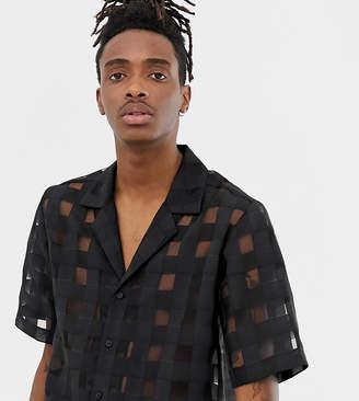 Reclaimed Vintage inspired woven shirt in sheer