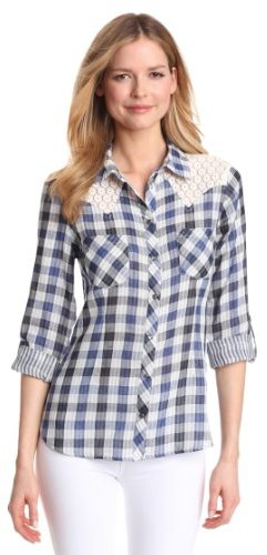 Vince Camuto Two by Women's Lace Western Shirt