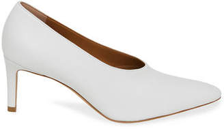 Mansur Gavriel Pointed Leather Slip-On Pumps