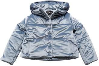 MonnaLisa Hooded Velvet Puffer Jacket