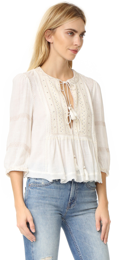 Free People The Wild Life Embroidered Top 2