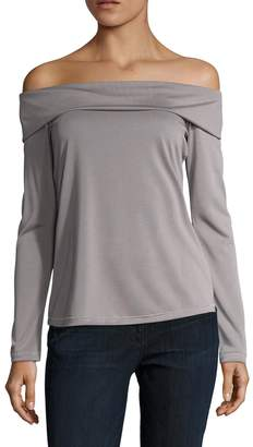 Splendid Women's Folded Off Shoulder Tunic