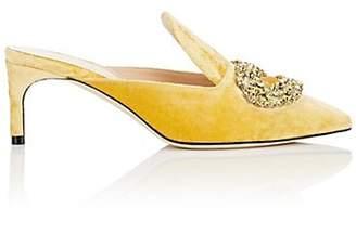 GIANNICO Women's Daphne Velvet Mules - Yellow