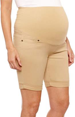 PLANET MOTHERHOOD Planet Motherhood 7 Denim Bermuda Shorts - Maternity