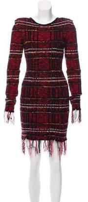 Balmain Tweed Structured Dress Red Tweed Structured Dress