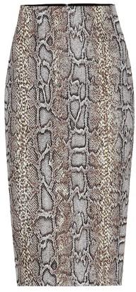 Victoria Beckham Snake-jacquard pencil skirt