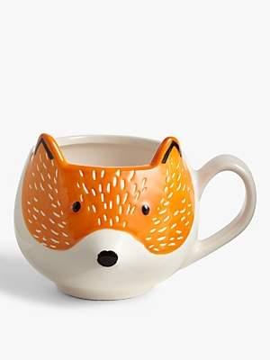 John Lewis & Partners Fox Mug, 400ml, Orange