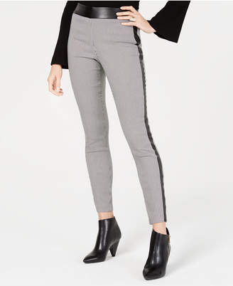 38a4dbdd161 INC International Concepts I.N.C. Houndstooth Faux-Leather Skinny Pants