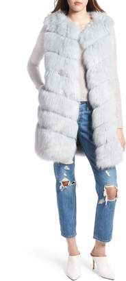 KENDALL + KYLIE Grooved Faux Fur Vest