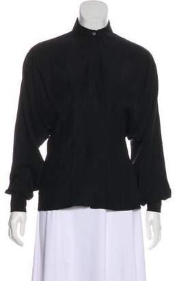 Salvatore Ferragamo Long Sleeve Button-Up Top