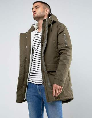 Bellfield Fleece Lined Parka With Hood
