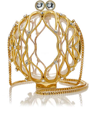 Marzook Carriage Ball Gold Metal Orb Bag