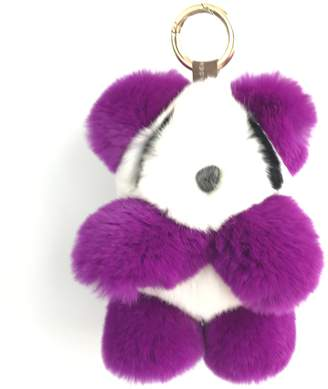 ONLYFURYOU Purple Real Rex Rabbit Fur Soft Panda Keychain Pendant Bag Charm Gift
