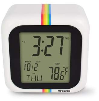 Polaroid White Desktop Digital Clock with 12/24 Hour Display, Indoor Temperature, Calendar Display, Alarm/Snooze Functionalities with Back Light (White)