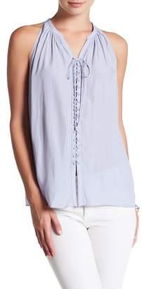 Ramy Brook Patty Sleeveless Lace-Up Blouse $325 thestylecure.com