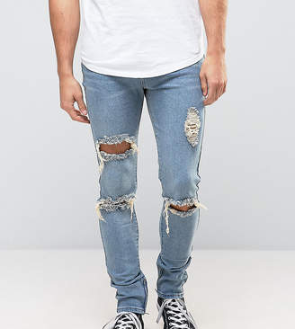 N. Liquor Poker Skinny Jeans Ripped Ankle Zip